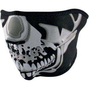 Half Skull Mask Chrome