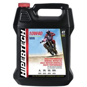 10W40-MIN BIKE 	MINERAL 4-CYCLE MOTOR OIL FOR MOTORCYCLES