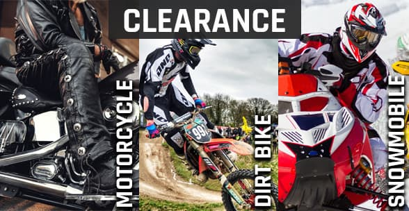 Clearance motorcycle, motocross et snowmobile
